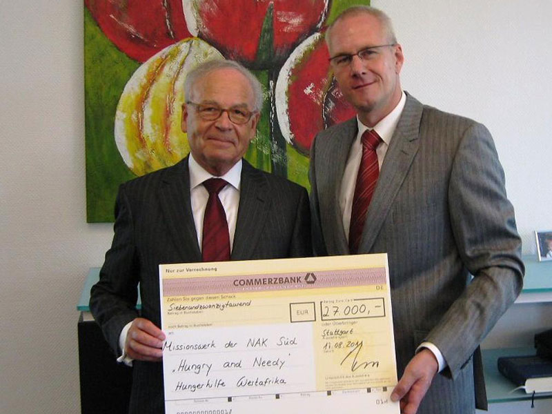 Donation of the Joerg-Wolff-Stiftung to the Missionswerk